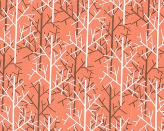 Tree Fabric, Michael Miller Birds of a Feather, DC6207 Twigs , Coral Quilt Fabric, Peach Tree Quilt Fabric, Mark Hordyszynski, Apron Fabric