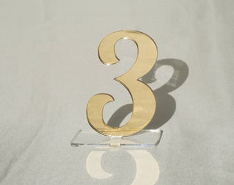 "3 1/2"" Mirror acrylic Table Numbers, Wedding Table Numbers, Wedding Table Numbers Set, Wedding Table Decor, Table Numbers,"
