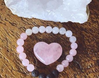 Rose Quarts Diffuser Bracelets