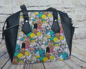 90's Kids Handbag - Hey Arnold Purse - Nickelodeon Shoulder bag - Rugrats Carry All