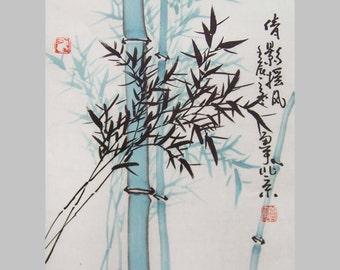 orental art Original chinese bamboo painting  ink paingting art-lovely bamboo No.2