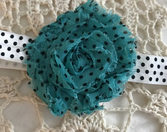 Polka Dot Headband, Newborn Headband, 12 Inch Headband, Premie Headband, Polka Dots, Small Headband, Baby Gift, Baby Girl, Baby Shower Gift