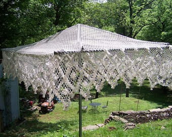 Wedding chuppah handmade crochet  canopy generous rectangle of 6ft by 8ft