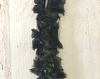 Wrights Fabric Trim in black, 2 in. width, sold in 2 yd increments, for scrapbooking, card making, sewing, fabric arts, mixed media