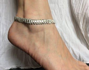Anklet, charm anklet or bracelet 11 silver metal chain