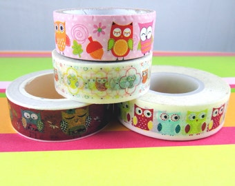 Washi Sample - Owl Washi - Animal Washi