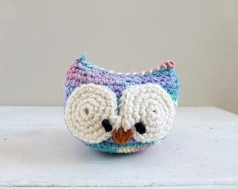 Crochet owl doll, Owl stuffed animal, Cute Stuffed Animal, ready to ship, hand crochet, plush owl doll, amigurumi animal, cute crochet owl