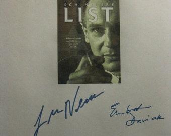 Schindlers List Signed Film Movie Screenplay Script X6 Autographs Liam Neeson Ben Kingsley Raply Fiennes Steven Spielberg Embeth Davidtz