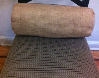 6 x 15 1/2 natural burlap lined bolster pillow cover with envelope  back closure