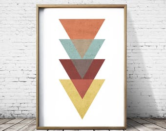 Digital Art Prints Orange Print Wall Art Prints Posters Geometric Prints Digital Print Digital Download Modern Art Abstract Prints