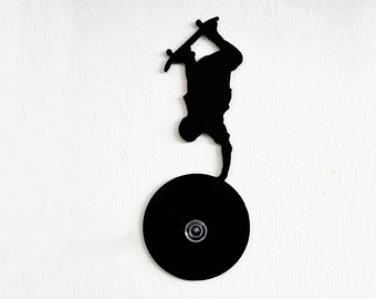 Skateboarding Silhouette -Wall Hook  / Coat Hook / Key Hanger