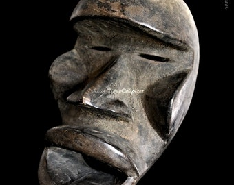 Ethnographic Art Image Series / Portrait of Dan Grebo Face Mask (#2) / Tribal Art–African Art / High Res Print / Orig Color Photography