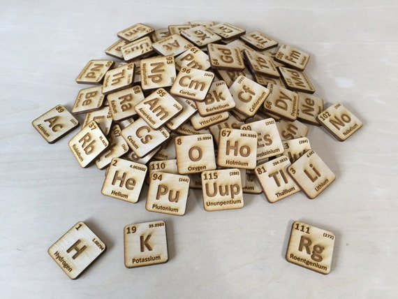 Laser cut wooden periodic table of elements urtaz Gallery