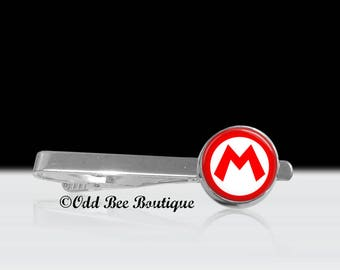 Mario Tie Bar - Nintendo Tie Clip - Gamer Tie Clip - Super Mario Brothers Tie Clip - Geekery Tie Clip - Gift for Him - Father's Day Gift