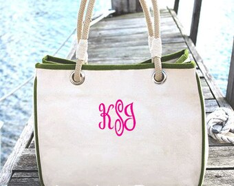 Monogrammed Bridesmaid Tote Bag, Monogram Canvas Tote Bag, Personalized Canvas Tote Bag, Bridesmaid Tote Bag, Many Colors Available
