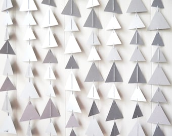 Silver Backdrop / Triangle Bunting / Garland / Wedding Decor / Nursery Decor / Holiday Decor