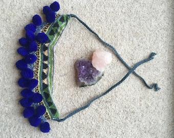 Handmade Pom Pom choker necklace