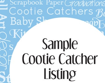 Sample Cootie Catcher Listing