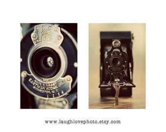 Kodak Camera Photo Print Set, Vintage Collectible Photography, Livingroom Bedroom Office Decor, Photographer Hipster Home Decor Wall Art