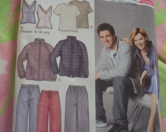 New Look 6206 Misses Men's Tops Jacket and Pants Sewing Pattern UNCUT - Size XS - XL
