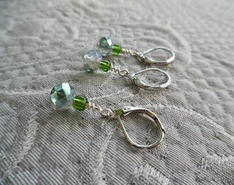 "Clip-style Stitchmarkers, ""Emerald City"", up to 6.5 mm needles"