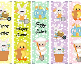 Easter Garden Party Book Marks