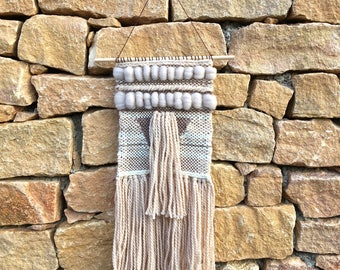 Woven wall hanging beige and Brown