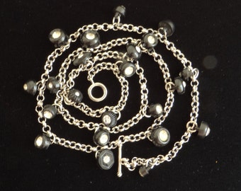 Fun and Fabulous black and silver 3 in 1 Necklace/ Bracelet.