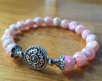 Mothers Day Sale Shell Jewelry, Shell Bracelet, Chunky Bracelet, Beaded Bracelet, Stretch Bracelet, Ocean Bracelet, Ocean Jewelry, Mosaic Sh