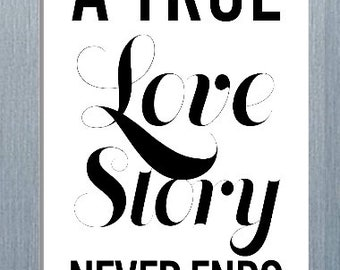 A True Love Story Never Ends Magnet