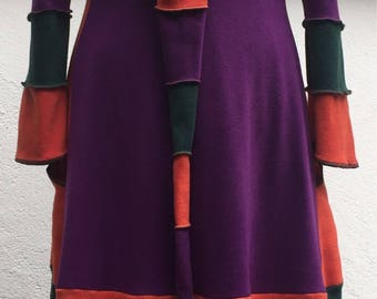 The Isis coat full lenght, three tone