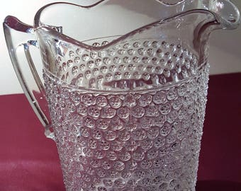 Antique Thousand eyes Hobnail Water/Lemonade Pitcher 1885 Doyle & Co