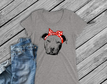 Digital file -SVG and DXF Pit Bull  with Bandana