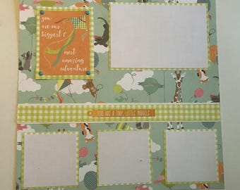 little miracle layout  premade 12 x 12 scrapbook page.