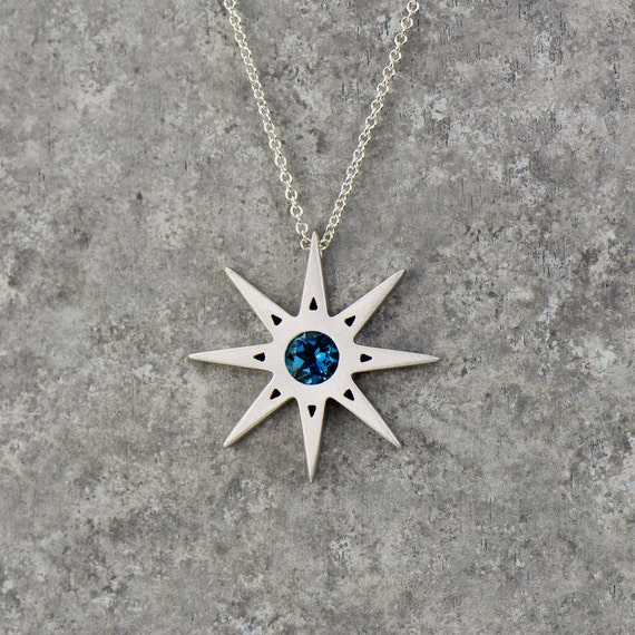 pendant necklaces plum gardeniajewel best crystal silver women necklace design blue star sterling gifts crystalnecklaces products