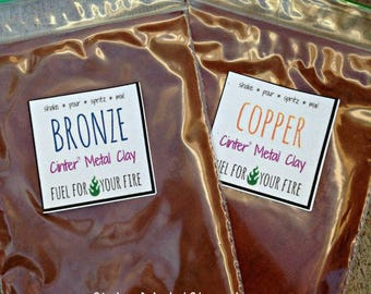 copper and bronze metal clay combo pack Cinter Metal Clay for jewelry makers