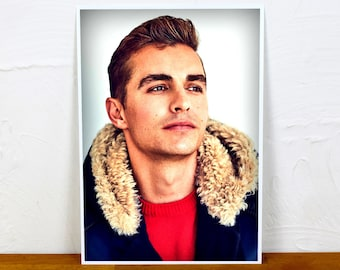 Dave Franco Poster Print - Colour and BW - 2 sizes - A4 and A3