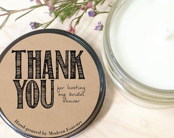 Thanks for Hosting, Baby Candle, Baby Gift Candle, Natural Soy Candle, Thank You Gift, Baby Shower Gift, Wedding Hostess