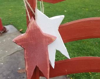 Rustic barn star ornament