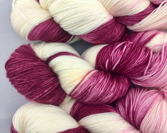 Berries & Cream - Hand Dyed Yarn *DYED TO ORDER*