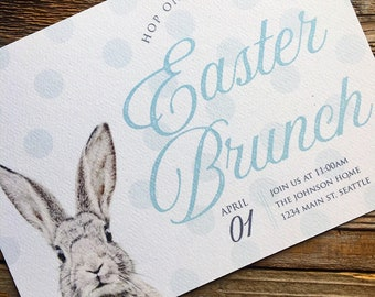 SALE - Printable Easter Banner and invitation, Easter Egg hunt invitation, Easter Brunch invitation - Digital file