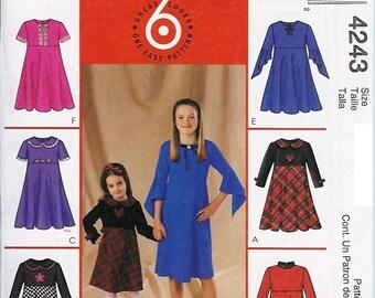 McCall's Pattern 4243 Children's Dresses 3-6 UNCUT