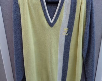 Vintage Men's Pringle Sports V-Neck Sweater