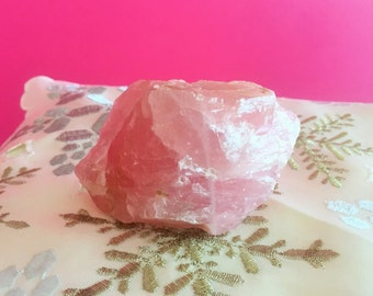 Raw Rose Quartz Crystal / Pink Quartz Chunk / Healing Crystals and Stones