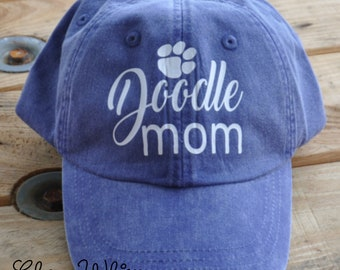 Doodle Mom Cap, Baseball Cap, Goldendoodle Mom, Doodle Mom Cap with Paw Print, Doodle Love