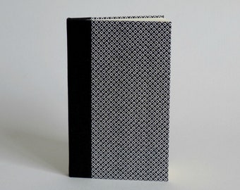 Phone book address book, 80 pages. Japanese paper, black and white Kanoko pattern blanket.
