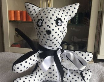 Plush stuffed cat