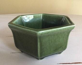 Dark Green Haeger Hexagonal Planter