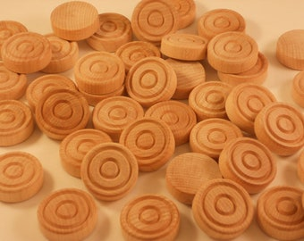 30, Wood, Backgammon, Playing pieces, Unfinished, Backgammon Pieces, Wooden, Backgammon Playing Pieces