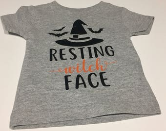 Resting Witch Face Infant/Toddler Top - Halloween Tee - Funny Halloween Shirt
